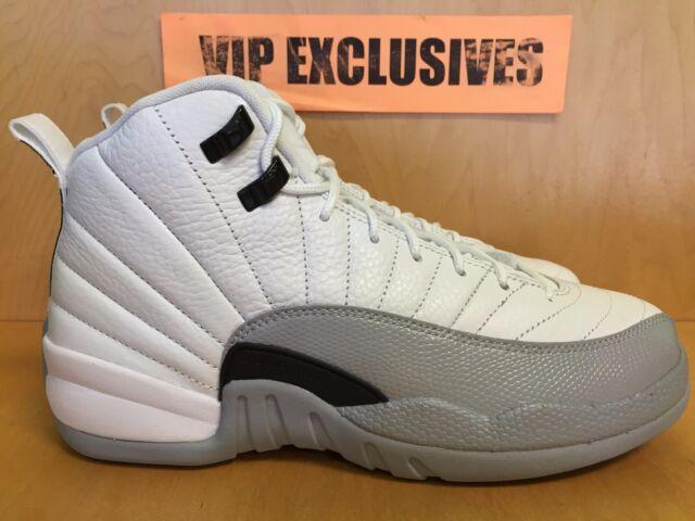 Nike Air Jordan 12 Retro GG Baron Barons Wolf Grey White Black GS 510815-108 2efc88b53