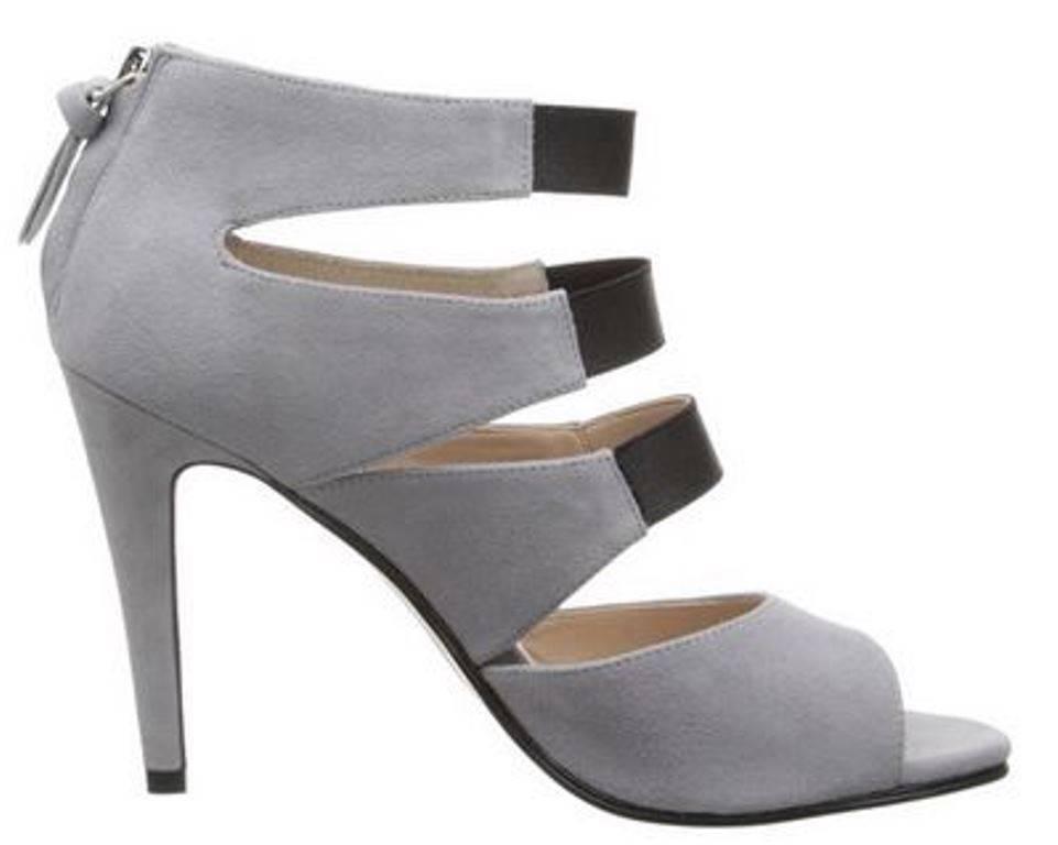 Wouomo scarpe French Connection NOLIE Strappy Sandal Elasticized Suede grigio