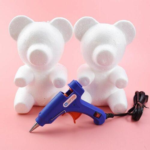 Teddy Bear Roses Foam Artificial Flowers Mold DIY Gift Polystyrene Wedding Decor