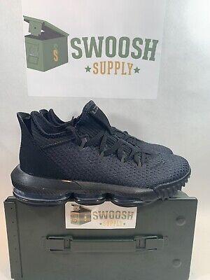 on sale e8c01 22682 Nike Lebron XVI LOW 16 Triple Black Size 7 CI2668 002 New Basketball Lakers  | eBay