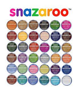 18ml-Snazaroo-Cara-Y-Cuerpo-De-Pinturas-Juego-De-Escenario-Maquillaje-Clasico-47-colores-y-brillo