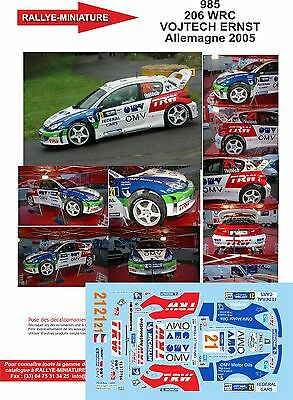 DECALS 1//24 REF 864 PEUGEOT 206 WRC CAMPOS RALLYE MONTE CARLO 2004 RALLY