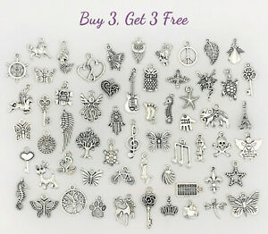 Buy 3 Get 3 Free! Dangle Charms for Bracelets, Necklaces, DIY Jewelry Pendants 7