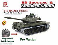 Radio Remote Control Rc Battle Tank Heng Long Walker Bull Dog 1/16 Pro Uk