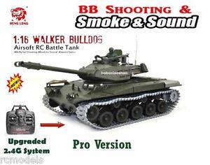 Réservoir de combat radio télécommandé Heng Long Walker Bull Dog 1/16 Pro Uk