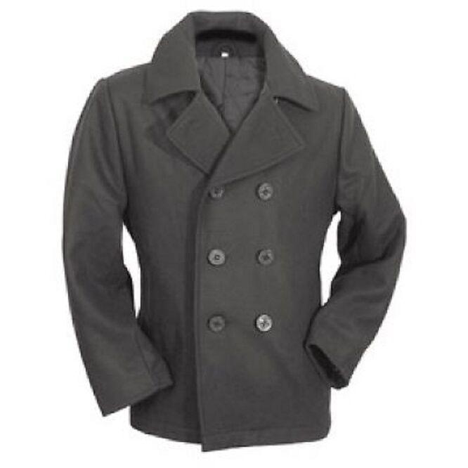 Nos Vintage Azul Marino Chaquetón  Azul Marino Ejército Abrigo Chaqueta corta NEGRO XL  el más barato