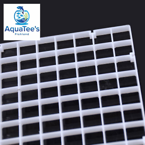 Grid-Divider-Tray-Egg-Crate-Aquarium-Fish-Tank-Filter-Bottom-Isolate-WHITE-X-2