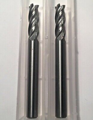 .125 1//8 4 Flute Long Length Carbide END Mill 1//8 x 1//8 x 3//4 x 2-1//2