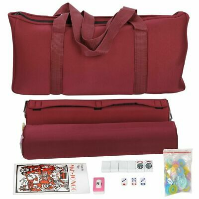 Western Mahjong Set in Burgundy Bag With All in one combo racks//pushers