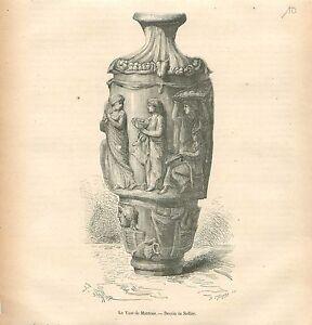 Vase-de-Mantoue-Mantova-Lombardie-Lombardia-dessin-de-Sellier-GRAVURE-PRINT-1874