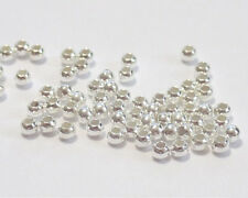 Pack of 1000 925 sterling silver seamless 2.5mm round bead 1.2mm hole spacer