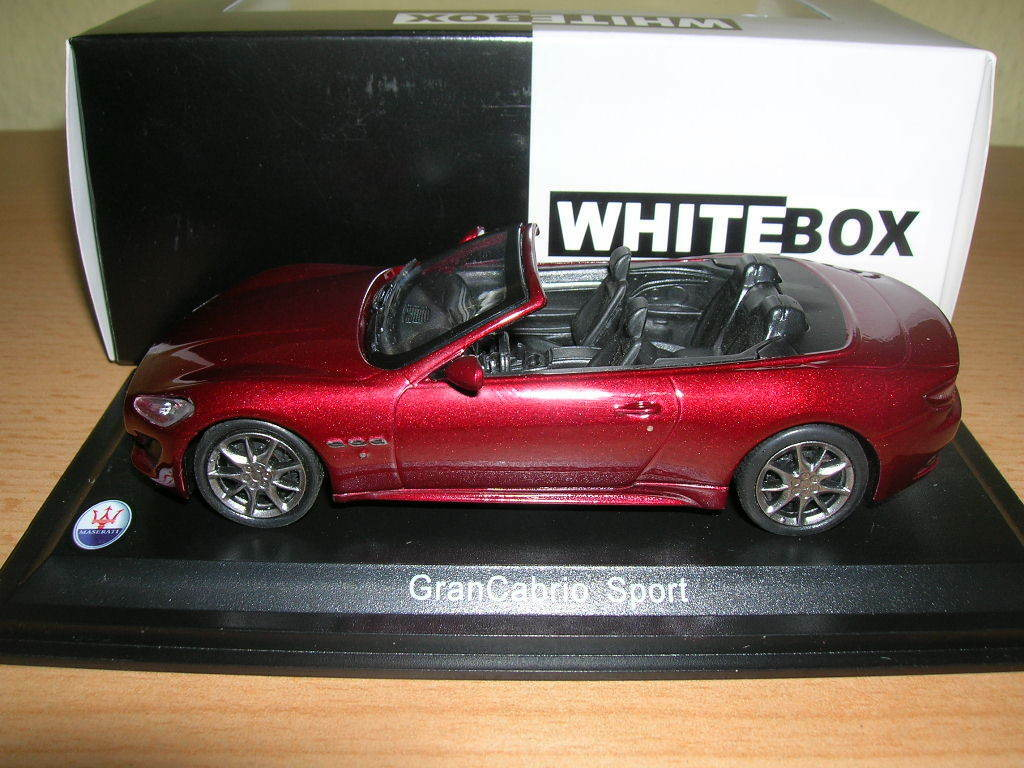 Whitebox Maserati Grancabrio Sport Dark Red Dark Red Red 1 43 Item WBS031
