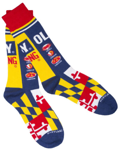 Officially Licensed Old Bay Seafood Seasoning Can Design Dress Socks