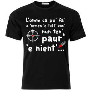 Details About T Shirt Uomo L Omm Ca Po Fa A Men E Tutt Cos Gomorra Inspired Nera