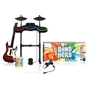 PS3-034-BAND-HERO-034-Super-Bundle-Kit-Game-Set-FREE-SHIPPING-set-drums-guitar-mic