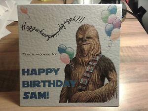 Handmade personalised star wars chewbacca chewie birthday card image is loading handmade personalised star wars chewbacca chewie birthday card bookmarktalkfo Choice Image
