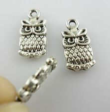 16//48pcs Tibetan Silver Owl Charms Pendants Beads13x20mm DIY Findings