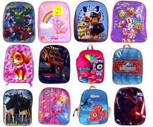 NEW OFFICIAL LICENSED CHILDRENS BACKPACKS SCHOOL BAGS PAW PATROL AVENGERS TROLLS