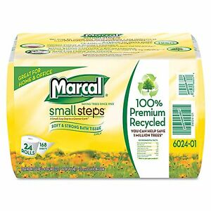 Marcal-Small-Steps-Recycled-Toilet-Paper-Bath-Tissue-2-Ply-24-Rolls