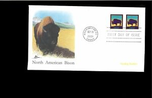 2001-First-day-Cover-Bison3467
