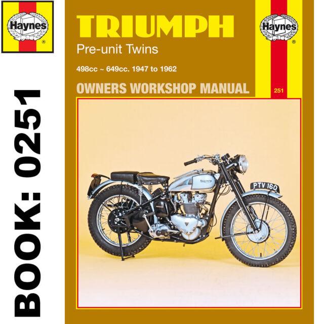 triumph t110 t120 tr5 tiger thunderbird haynes manual 0251 ebay rh ebay co uk triumph thunderbird 900 service manual pdf triumph thunderbird service manual