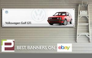 Mk2-Volkswagen-Golf-GTi-Banner-for-Garage-Workshop-Office-Man-Cave-etc