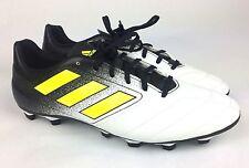 6222226f02068a Adidas Ace 17.4 FxG Size 12 White Black Volt Mens Soccer Cleats Shoes S77090