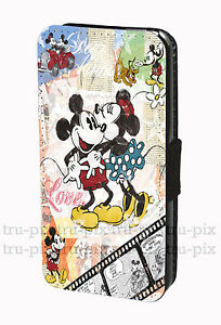 Disney-Vintage-Mickey-Mouse-and-Minnie-Faux-Leather-Flip-Wallet-Phone-Case-Cover