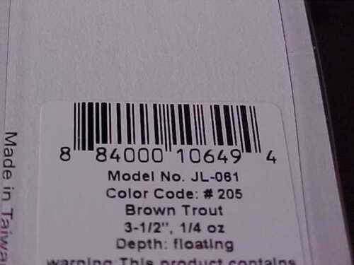 "Strike Pro 3 1//2/"" ALPHA Diver Deep Minnow JL-061F#205 BROWN TROUT Bass//Walleye"