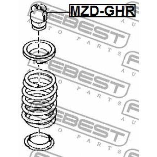 2x FEBEST Shock Absorber MZD-GHR