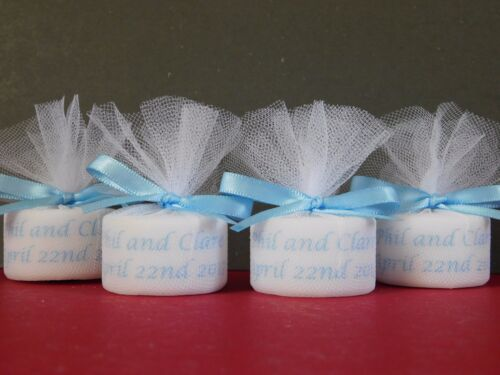 Personalised Candle Tealight Wedding Favours in any colour Set Of 10