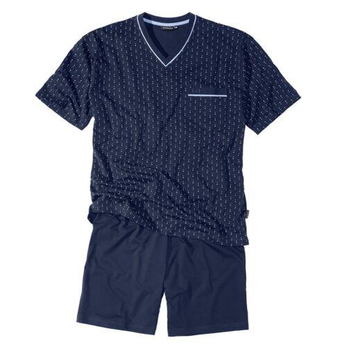 Xxl Götzburg v-neck pyjama court Navy fantaisie motif 58 72//74 76//78 80 Nouveau