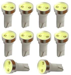 10x-ampoule-T5-12V-LED-HIGH-POWER-1W-blanc-pour-tableau-de-bord