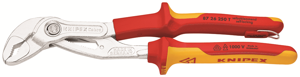 Knipex COBRA HIGHTECH WATER PUMP PLIERS 250mm 250mm 250mm Insulated TetheROT German Made 27bbac