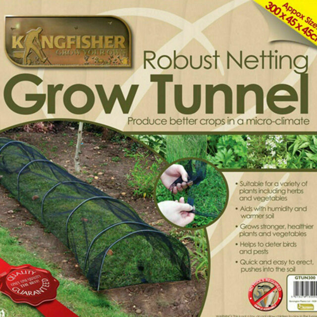 2 x NEW GARDEN NET GROW TUNNEL PROTECT PLANTS VEGETABLES INSECTS BIRDS PESTS