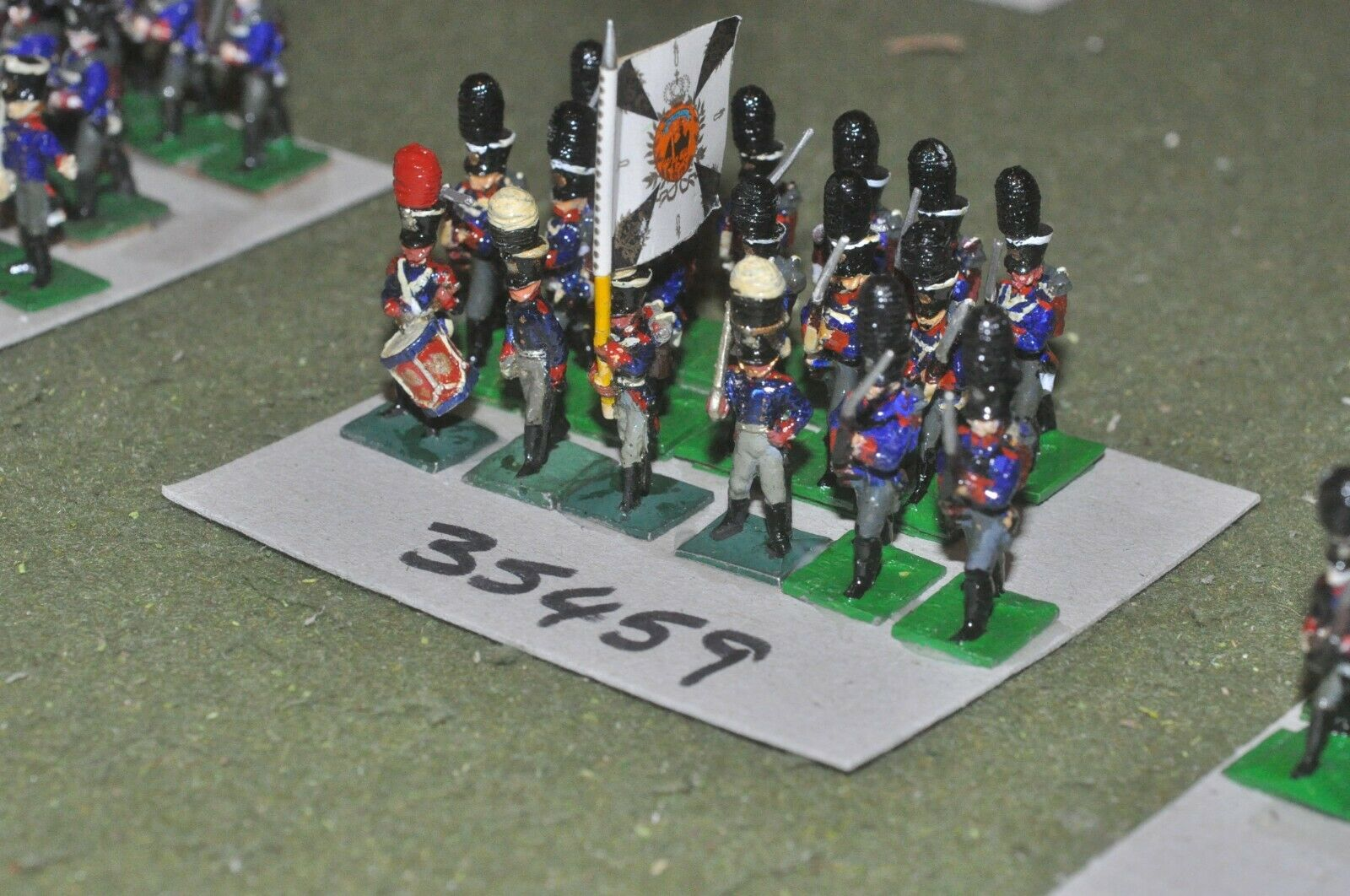 25mm napoleonic   prussian - grenadiers (old school) 18 figures - inf (35459)