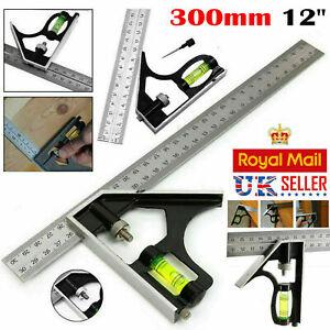 """300 mm (12"""") angle droit souverain Réglable Ingénieurs Combinaison équerre Set UK"""