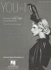 Lady GaGa    You And I     US Sheet Music