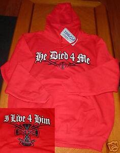 HE-DIED-4-ME-Pullover-Hoodie-Sweatshirt-SMALL-Kerusso-Christian-Apparel