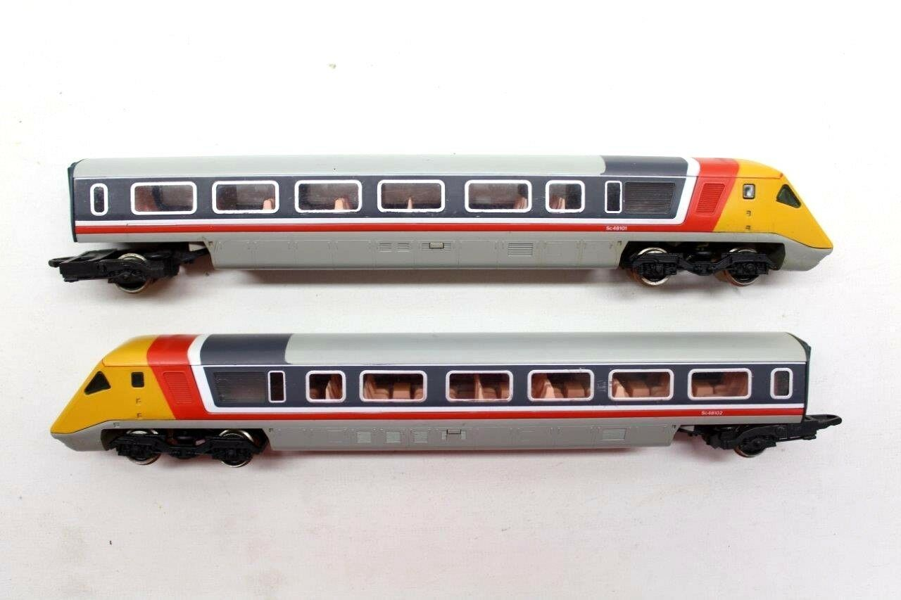 2 X HORNBY OO GAUGE 1 76 APT DUMMY CAR ENDS ADVANCED PASSENGER TRAIN SC48101 N22