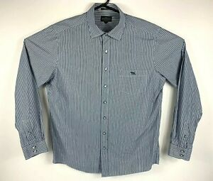 Rodd-amp-Gunn-Men-039-s-Shirt-Long-Sleeve-Button-Up-Size-L-Woven-Italy-Original-Fit