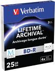Verbatim M-disc Bd-r 4x 3-pack Blu-ray Optical Media Inkjet Printable Quality