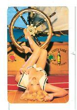 Single Playing Card, Cutty Sark Scots Whiskey Pin-Up Ship Wheel