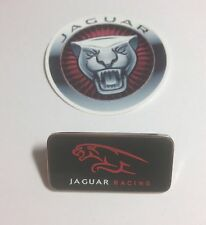 Genuine Jaguar Racing Pin Badge & Jaguar Sticker