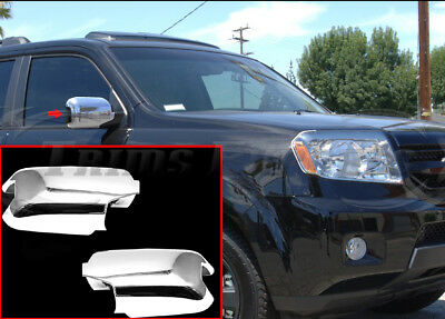 For Ford F150 2009-2014 Chrome Rear View Mirror Covers Caps Trim Turn Signal FM