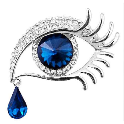 Pedrería broche ojo de plata oro cristal mujer cosmetóIoga maquillaje maquillaje