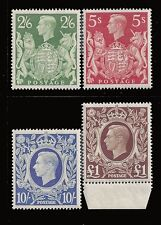 Great Britain Stamps 1942-1948 2sh6d-£1 KGVI MNH £105 / $130