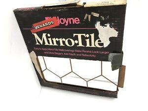 Vintage Mirror Tiles Gold Pattern Hoyne 6 Pack NOS 12x12 ...
