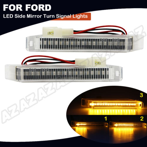 2X Sequential LED Under Side Mirror Light Turn Signal Lamp For 04-14 Ford F-150