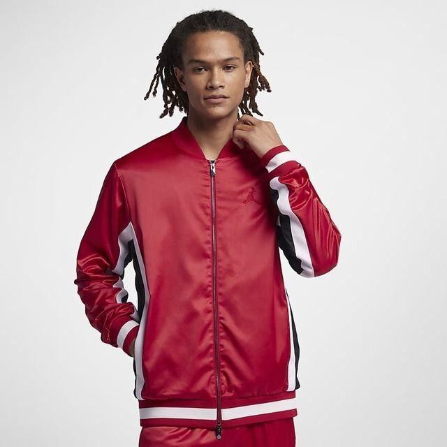 4575e1c75 Air Jordan Satin Track Jacket Retro 1 I Wings Red Black White Aq0938-687  2xl XXL